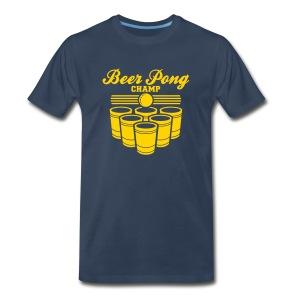 beer pong champ mens - Men's Premium T-Shirt