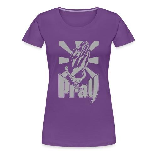 New Pray Flex Purple  - Women's Premium T-Shirt