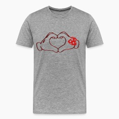 mickeys hand heart love T-Shirts