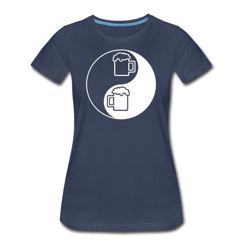 Yin-Yang Beer Mugs Women's Plus Size T-Shirt - Women's Premium T-Shirt