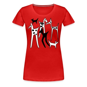 stylized animals - Women's Premium T-Shirt