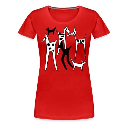 stylized animals - Women's Premium T-Shirt