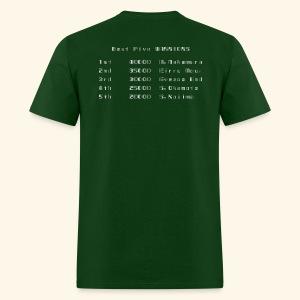 Scoretable6 (back- and frontprint) - Men's T-Shirt