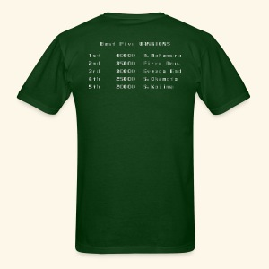 Scoretable6 (back- and frontprint) - Men's T-Shirt