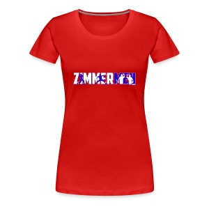 Zimmermen - Women's Regular T White & Blue - Women's Premium T-Shirt