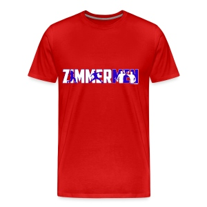 Zimmermen - Men's Regular T White & Blue - Men's Premium T-Shirt