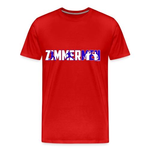 Zimmermen - Men's Regular T White & Blue - Men's Premium T-Shirt