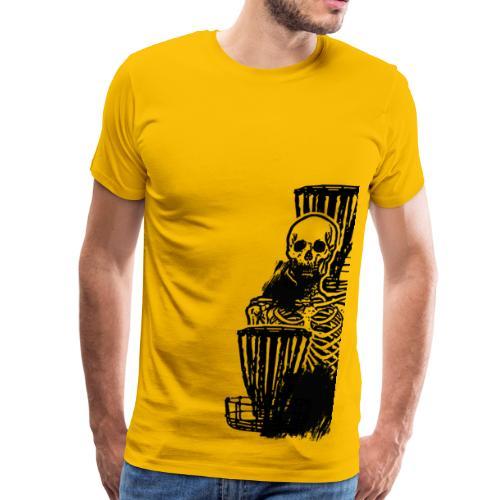 Disc Golf Until Death Skeleton - Men's Shirt - Men's Premium T-Shirt