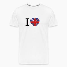 I love UK flag and heart T-Shirts