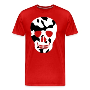 Red White Skull  - Men's Premium T-Shirt