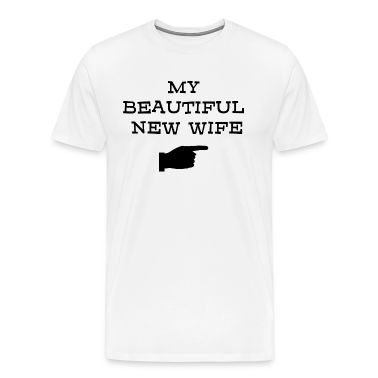 Just Married My Beautiful New Wife T-Shirt