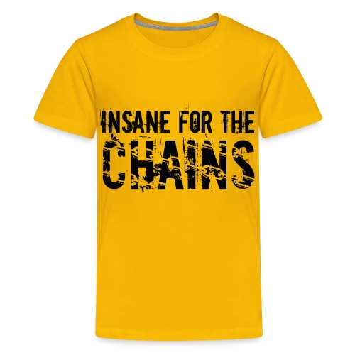 Insane for the Chains Front and Back Print Disc Golf Shirt - Kid's Shirt - Kids' Premium T-Shirt