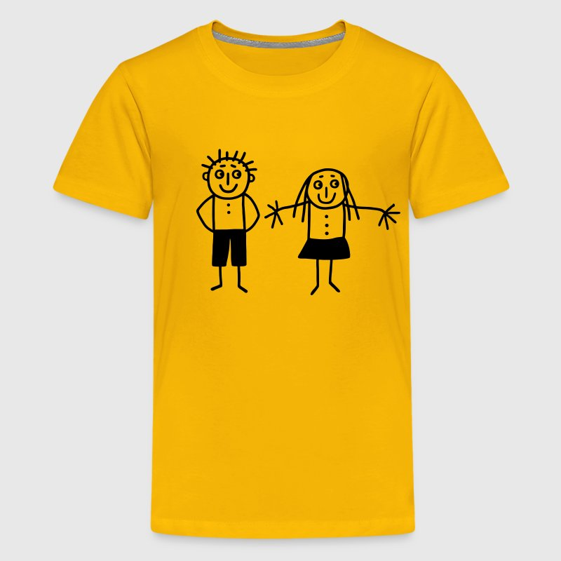 Mom & Dad - Brother & Sister Kids' Shirts - Kids' Premium T-Shirt