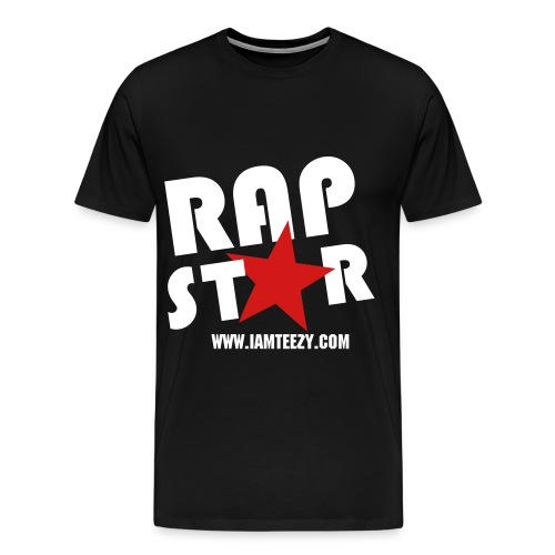 Rap Star Tee (Black/White/Red) - Men's Premium T-Shirt