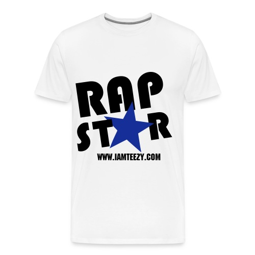 Rap Star Tee (Black/White/Blue) - Men's Premium T-Shirt