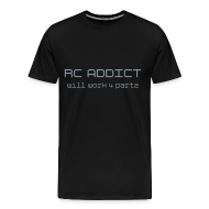 T-Shirts ~ Men's Premium T-Shirt ~ RC ADDiCT - Will Work 4 Partz