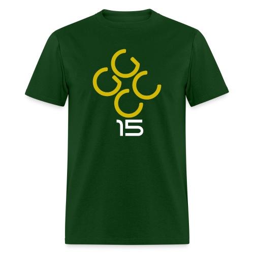 ggcc15 - Men's Green with Yellow - Men's T-Shirt