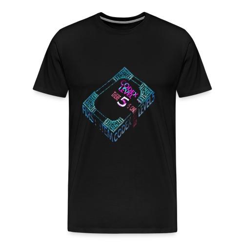 Codex Level 5 - Men's Black - Men's Premium T-Shirt