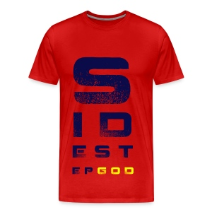 Sidestep God - Men's Red with Blue/Yellow - Men's Premium T-Shirt
