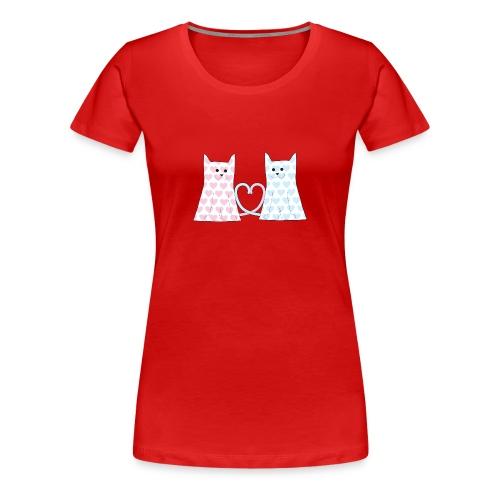Cats in Love - Women's Premium T-Shirt