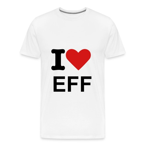 I love EFF t-shirt  - Men's Premium T-Shirt