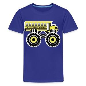 The Monsterous School Bus - Kids' Premium T-Shirt