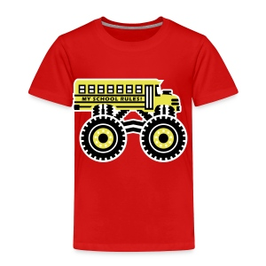 The Monsterous School Bus - Toddler Premium T-Shirt
