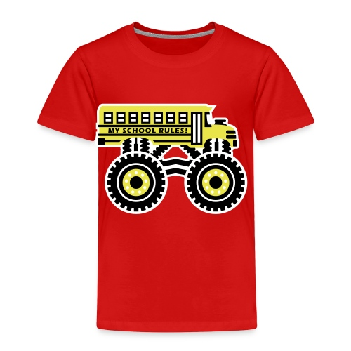 The Monsterous School Bus - Toddler Premium T-Shirt