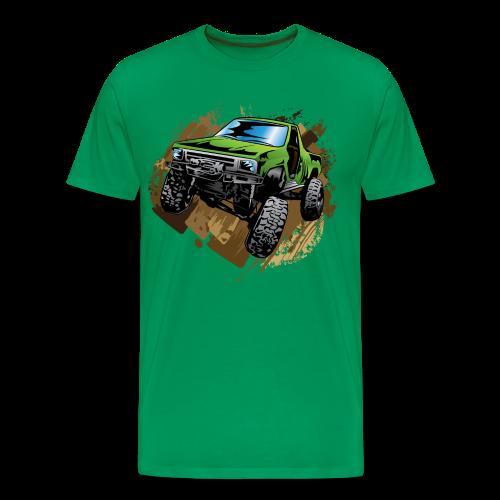 green off-road truck - Men's Premium T-Shirt