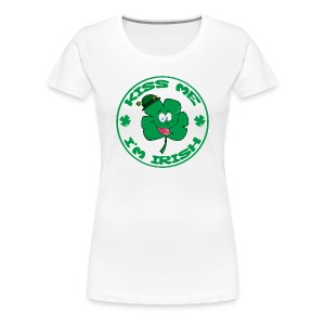 Kiss Me I'm Irish Women's Classic Fit T-Shirt - Women's Premium T-Shirt