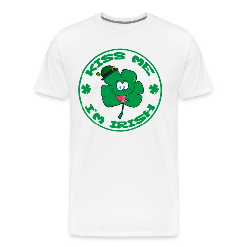 Kiss Me I'm Irish Men's Heavyweight T-Shirt - Men's Premium T-Shirt