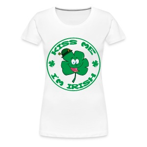 Kiss Me I'm Irish Women's Plus Size T-Shirt - Women's Premium T-Shirt