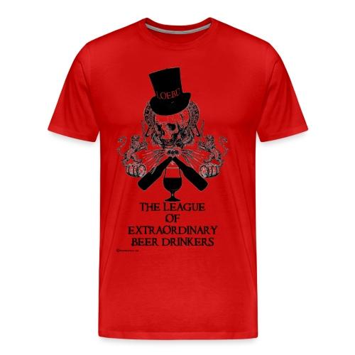 The League of Extraordinary Beer Drinkers Skull Top Hat Men's Premium T-Shirt - Men's Premium T-Shirt