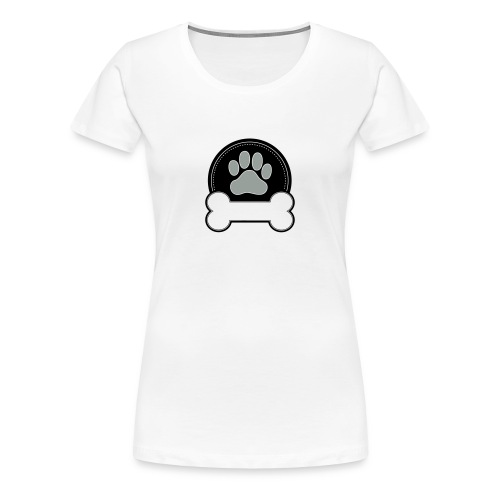 Dog Bone and Paw - Women's Premium T-Shirt