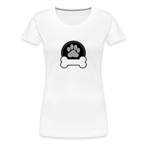 Dog Bone and Paw - Women's Premium T-Shirt