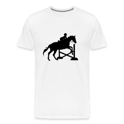 Horse Jumping Silhouette - Men's Premium T-Shirt