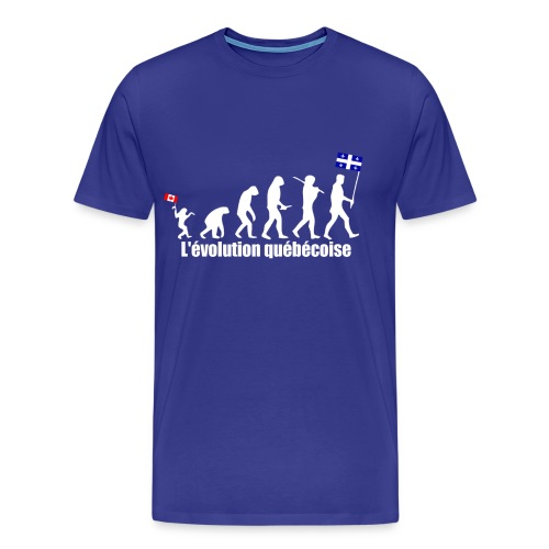 L'évolution québécoise (homme) - Men's Premium T-Shirt