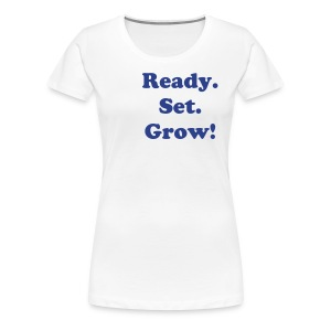 Ready. Set. Grow! Length check T-shirt - Women's Premium T-Shirt