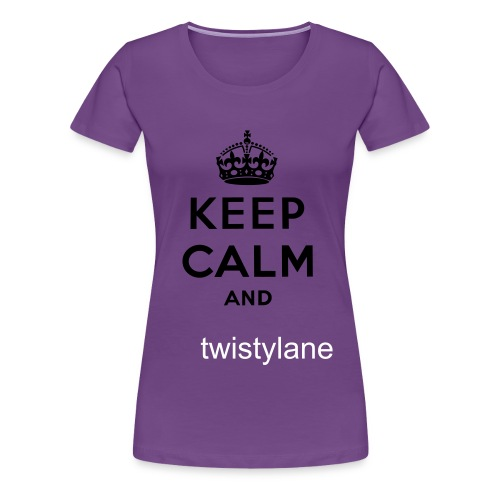 keep calm and twistylane womans t - Women's Premium T-Shirt