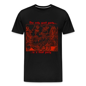 Dead Party (Red) - Heavy Weight Men's Shirt - Men's Premium T-Shirt