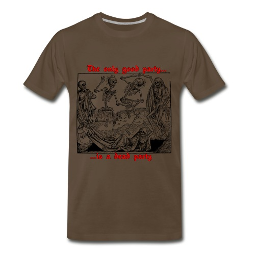 Dead Party (Black) - Heavy Weight Men's Shirt - Men's Premium T-Shirt
