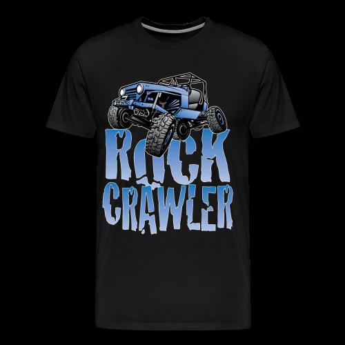 Cool Blue Jeep Rock Crawler - Men's Premium T-Shirt