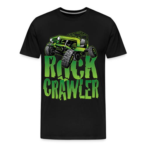 Mean Green Jeep Rock Crawler - Men's Premium T-Shirt