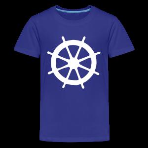 Steering Wheel T-Shirt (Turquoise/White) Kids - Kids' Premium T-Shirt