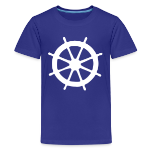 Steering Wheel T-Shirt (Turquoise/White) Kids - Kids' Premium T-Shirt