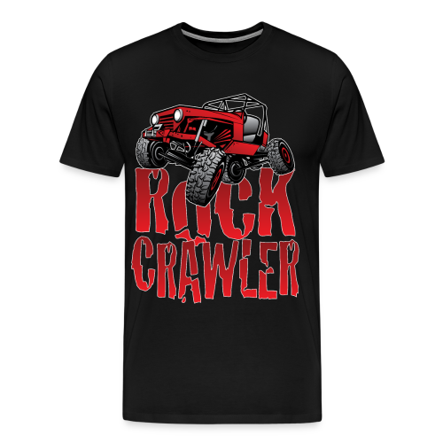 Rock Crawler Red Jeep - Men's Premium T-Shirt