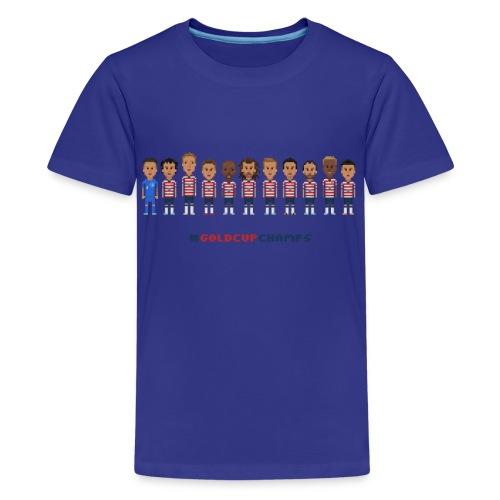 Kids  T-Shirt - USA Soccer 2013 #GoldcupChamps - Kids' Premium T-Shirt