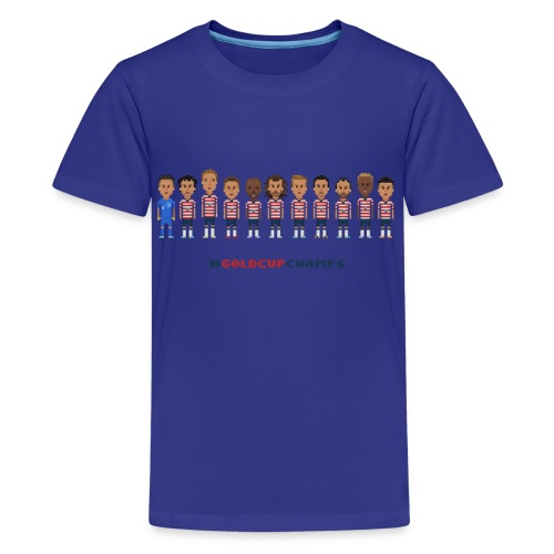 Kids  T-Shirt - USA Soccer 2013 #GoldcupChamps - Kids' Premium T-Shirt