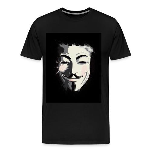 Anonymous Spray Paint Mask - Men's Premium T-Shirt