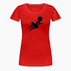 Afro Woman Sitting On Silhouette Women's T-Shirts
